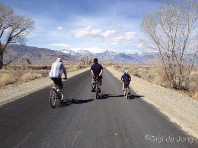 Cycling Warm Springs Rd. Bishop. CA