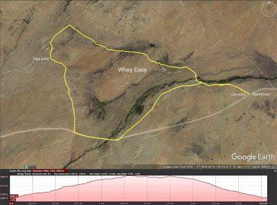 Whey Easy biking map
