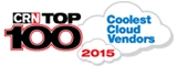 CRN TOP 100 Coolest Cloud Vendors 2015 award image