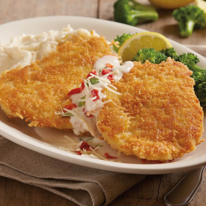 Parmesan Crusted Chicken parmesan-crusted chicken | menu | bj's restaurants and brewhouse