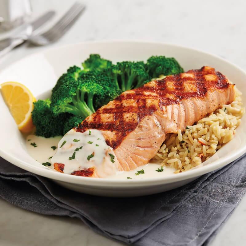 Fresh atlantic salmon menu bj 39 s restaurants and brewhouse for Atlantic fish menu