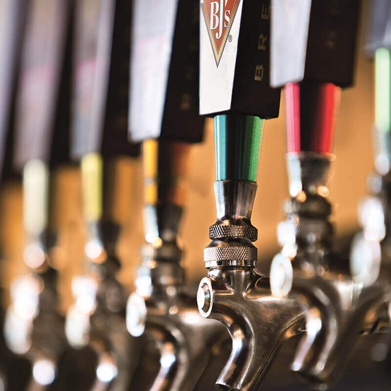 BJ's Restaurant & Brewhouse Craft Beer Taps