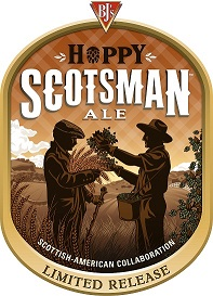Hoppy Scotsman Ale Scottish-American Collaboration Limited Release Label Art