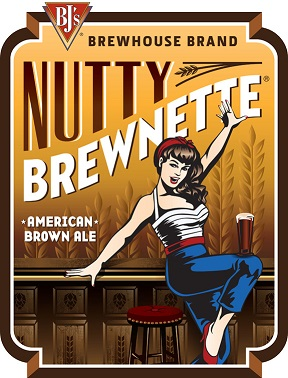 BJ's Nutty Brewnette Craft Beer Logo