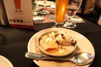 Matilda by Goose Island with Peach and Candied Pecan Cobbler