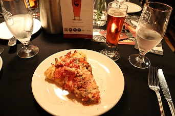Rambler Red IPA with BJ's Gourmet Five Meat Deep Dish Pizza
