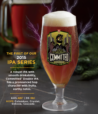 BJ's Committed™ Double IPA Craft Beer in glass