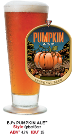 BJ's Pumpkin Ale - Handcrafted Seasonal Beer | BJ's Restaurant & Brewhouse