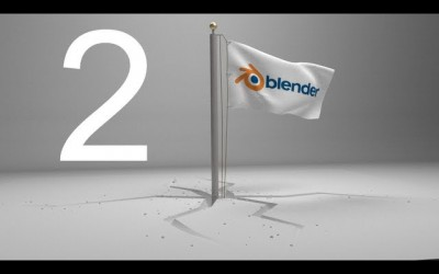 Blender Tutorial – Animation of Waving Flag Being Struck in Ground And Cracking It (Part 2 of 2)