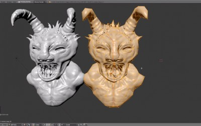 Blender Tutorial – How to Make Low Poly Video Game Characters and Normal Maps From Sculpts