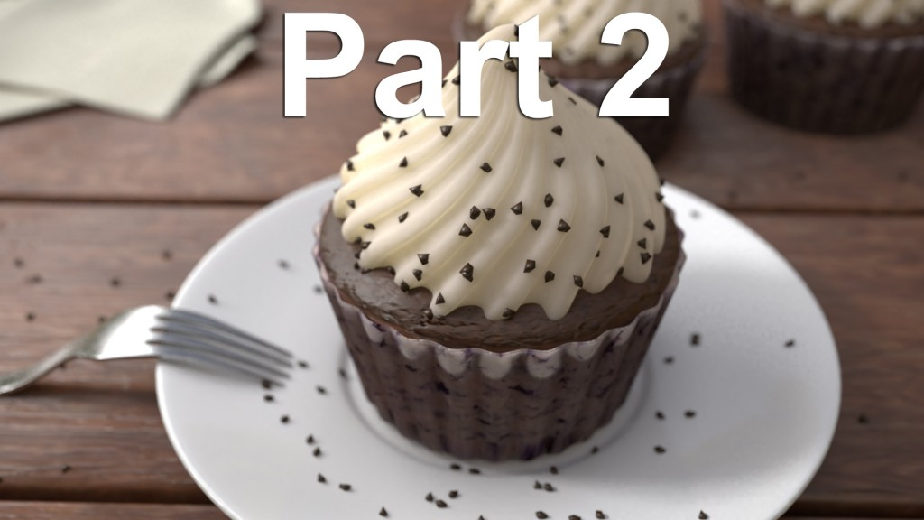 Blender Tutorial – How to Model A Cupcake Part 2