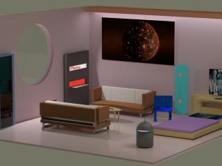 futuristic Room 2050