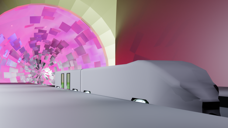 Sadly unable to continue my Wormhole train piece. To revisit at a later date NotfinishedTrain