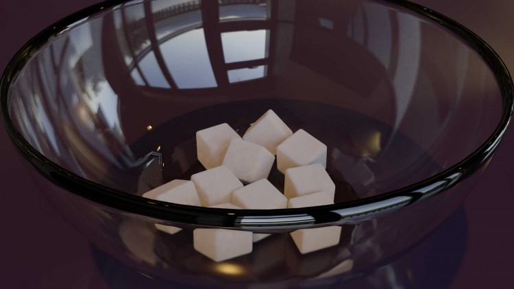 HDR render of my sugar cubes in a bowl. This I didnt submit for contest as I felt the cube's d