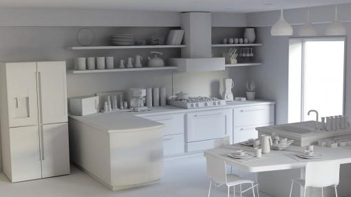 Modern Kitchen Scene for Blender 2.80 Gumroad: https://gum.co/WbnNu/free%20download CubeBrush: https