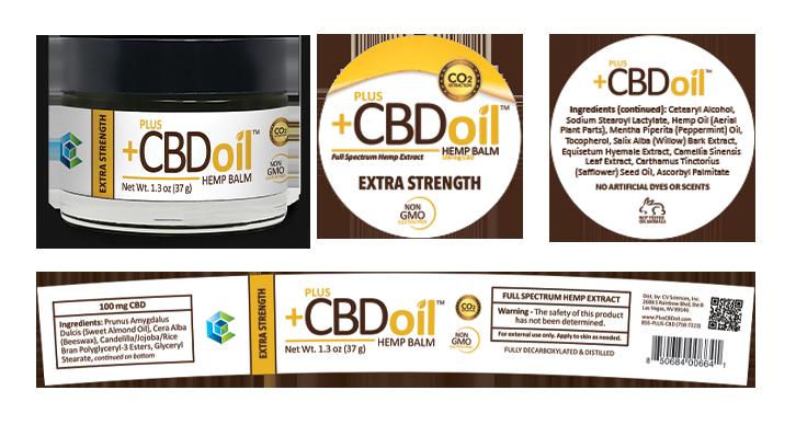 Plus cbd oil hemp balm extra strength
