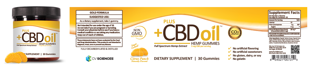 Plus CBD oil gummies citrus punch