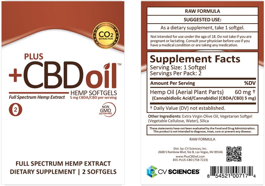 Raw softgel Plus CBD oil full spectrum hemp extract