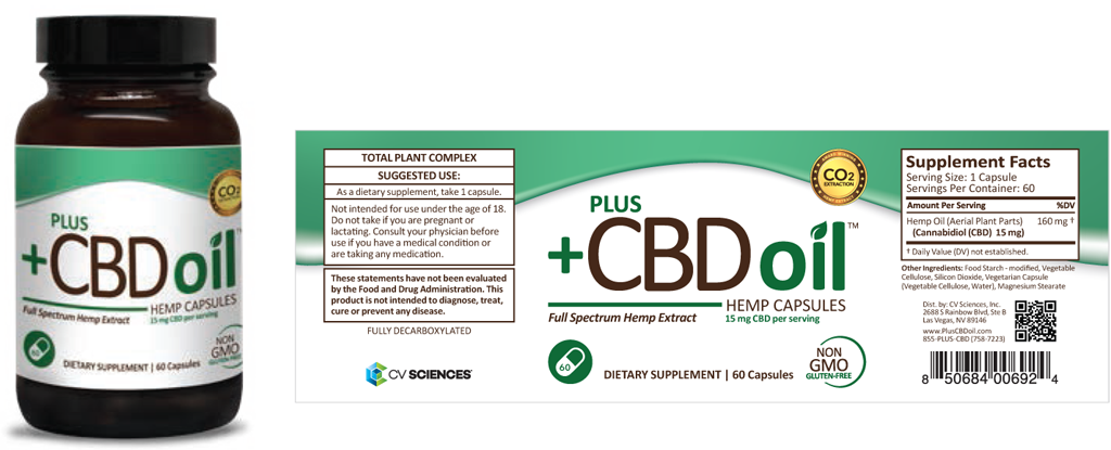 Plus CBD oil Hemp capsules full spectrum