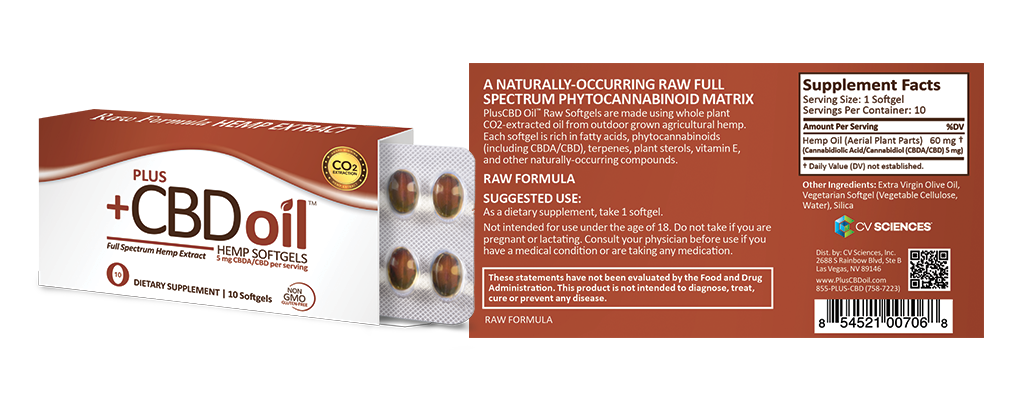 10ct raw softgels and packaging