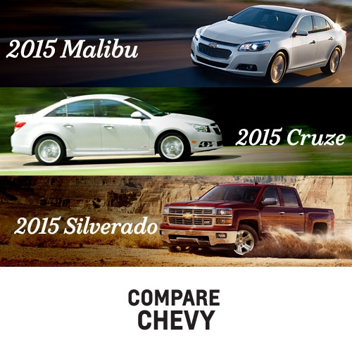 See How Chevy Compares to Competitors Get side by side comparisons