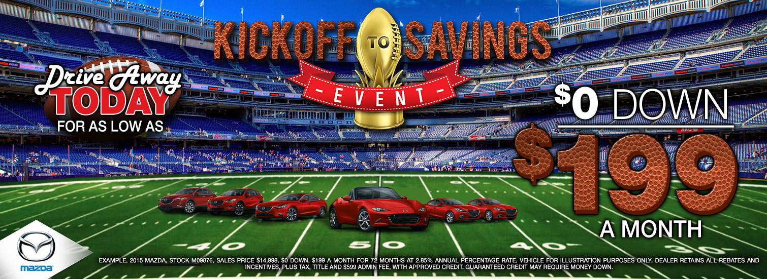 Kick off to savings Mazda