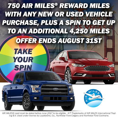 AIR MILES® Reward Miles with the purchase of any new or used vehicle at Northstar Ford Calgary and Cochrane!