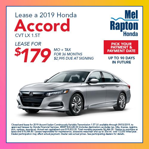 Honda Financial Services Account >> New Vehicle Specials Mel Rapton Honda Sacramento Ca