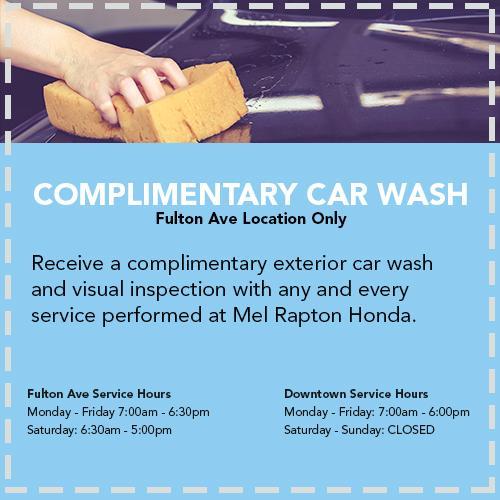 Service specials mel rapton honda sacramento ca complimentary car wash print service specials malvernweather Image collections