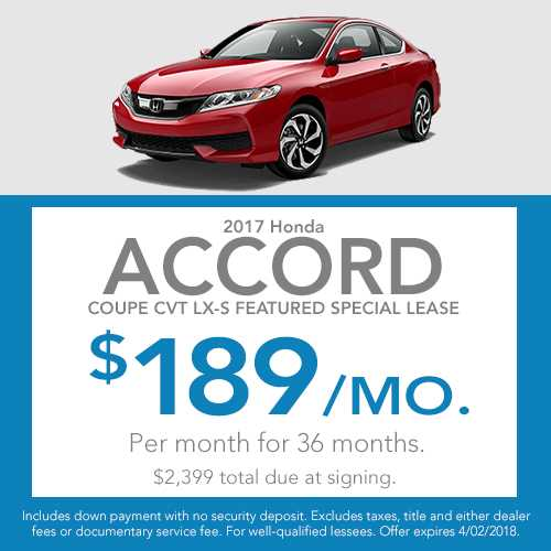 Beau Honda Lease Offers