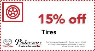 Toyota Tire Deals >> Toyota Service Parts Specials In Fort Collins Pedersen Toyota