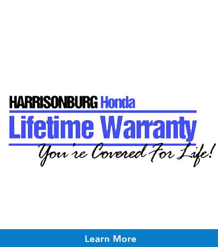 Warranty for Life from Harrisonburg Honda