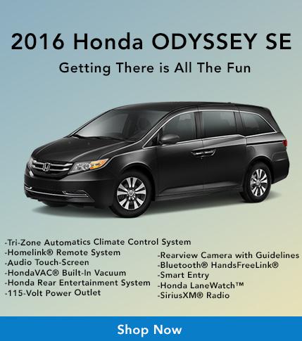 2016 Honda Odyssey SE at Harrisonburg Honda