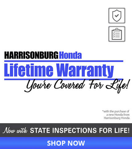 Warranty for Life from Harrisonburg Honda