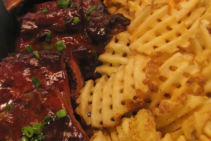BBQ Ribs and Waffle Fries