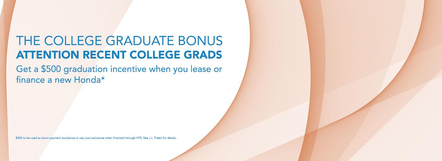 $500 College Grad Incentive