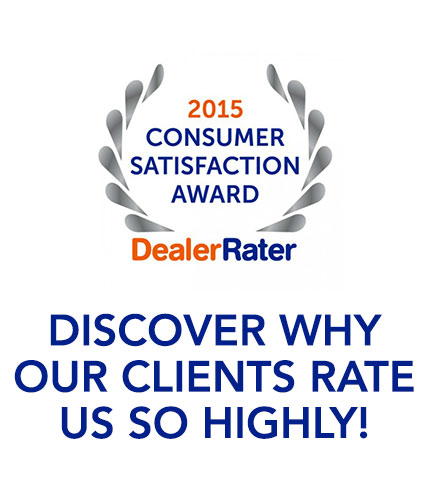 2015 Dealer Rater Consumer Satisfaction Award