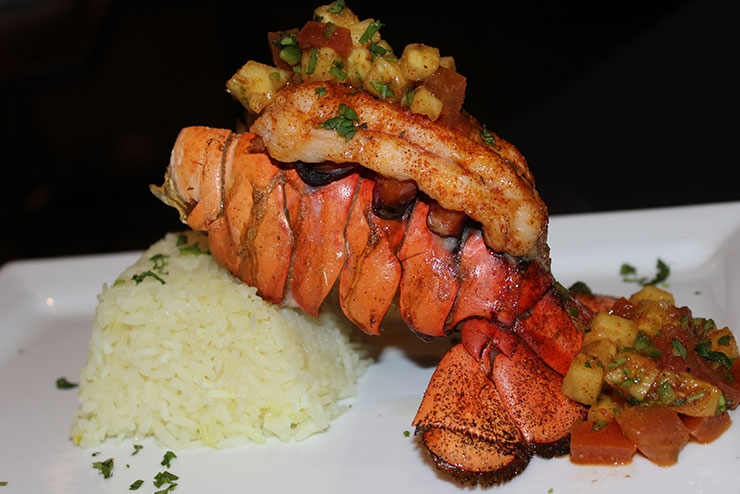 Caribbean Lobster Tail and Citrus Rice