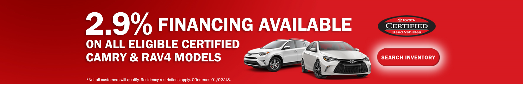 Toyota Certified APR Specials