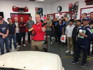 Guy Devivo teaching a BMW Tech Demo at Griot's Garage. Photo by Steve Libby
