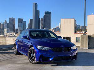 Blue BMW M3 at Seattle BMW