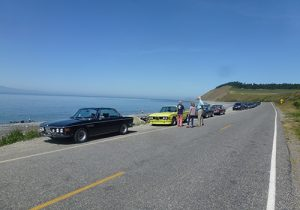 Taking a break on a BMW Club Whidbey Island Driving Tour