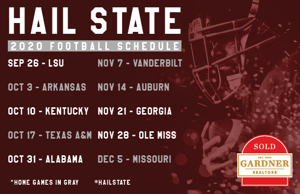 MS State 2020 Schedule Postcard