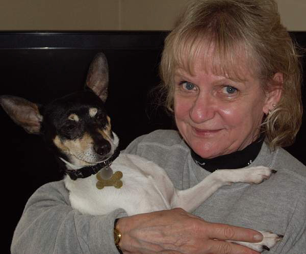 Toy Fox Terrier and owner