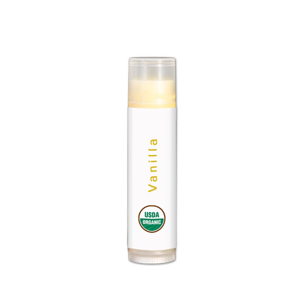Plain vanilla organic lip balm