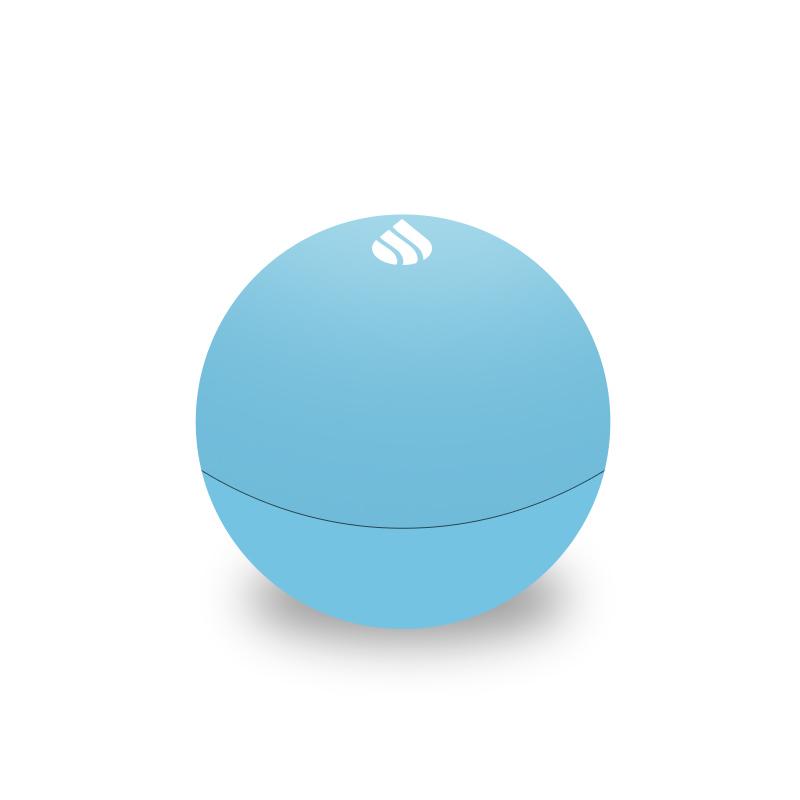 Blue rubber lip balm round vitalis