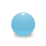 Medium blue rubber lip balm round vitalis