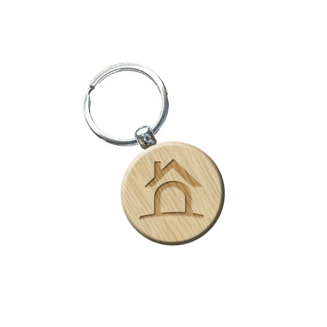 Circle rustic keychain hs