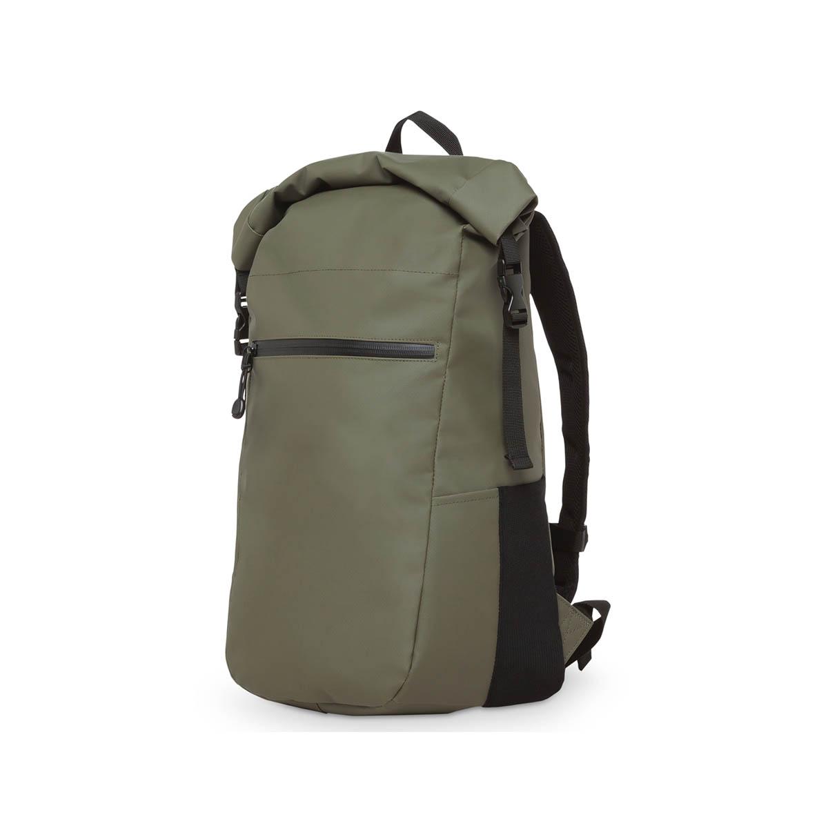 Olive rolltop backpack