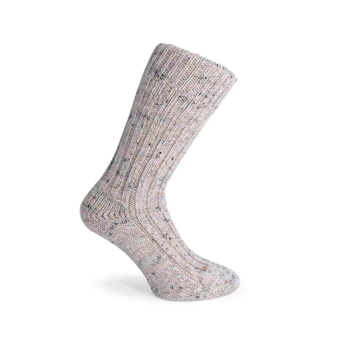 Woven wool socks